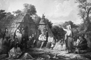 The Indian Council, C1847 by Seth Eastman