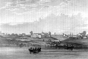 USA, Chicago 1820 by Seth Eastman