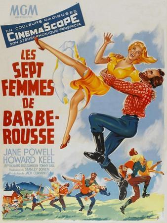 Seven Brides for Seven Brothers, French Movie Poster, 1954