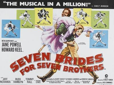 Seven Brides for Seven Brothers, UK Movie Poster, 1954