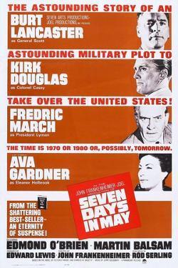 Seven Days in May, from Top: Burt Lancaster, Kirk Douglas, Fredric March, Ava Gardner, 1964