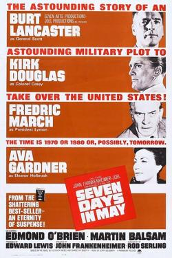 Seven Days in May, from Top: Burt Lancaster, Kirk Douglas, Fredric March, Ava Gardner, 1964