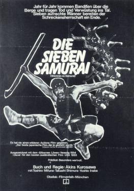 Seven Samurai, German Movie Poster, 1954