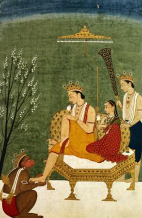 Seventh Incarnation of Vishnu as Rama-Chandra: Rama and Sita Reunited