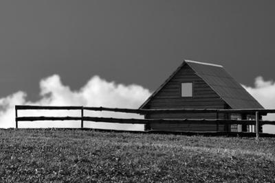 The Wooden Rural House, Black and White by Severas