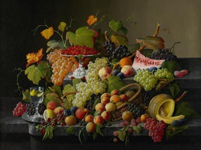 Abundant Fruit, 1858 by Severin Roesen