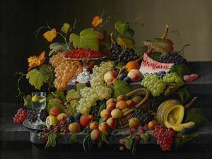 Abundant Fruit, 1858 by Severin Roesen