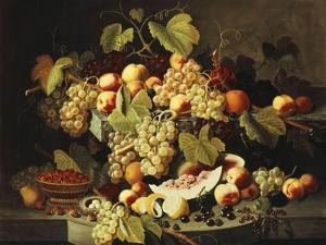 Bountiful Harvest by Severin Roesen