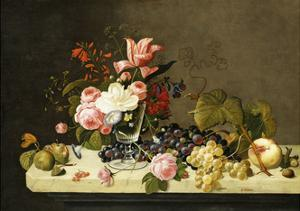 Flowers and Fruit by Severin Roesen