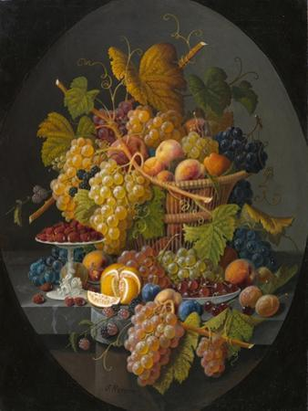 Still Life with Fruit, c.1855-1860 by Severin Roesen
