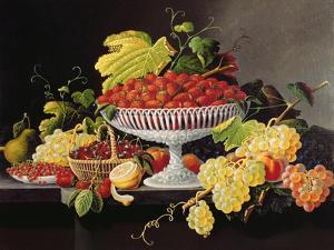 Still Life with Strawberries by Severin Roesen