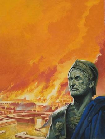 Hannibal with Carthage in Flames by Severino Baraldi