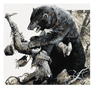 Hugh Glass Being Savaged by a Bear, 1978 by Severino Baraldi