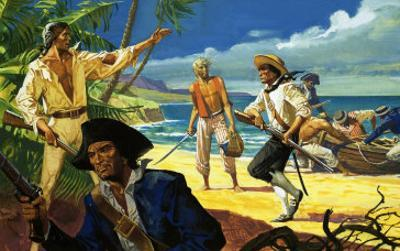 Mutineers from the Bounty Land on Pitcairn Island by Severino Baraldi