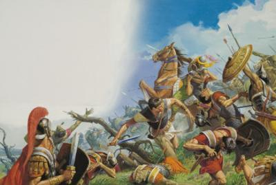 The Battle of Cannae in 216 Bc by Severino Baraldi