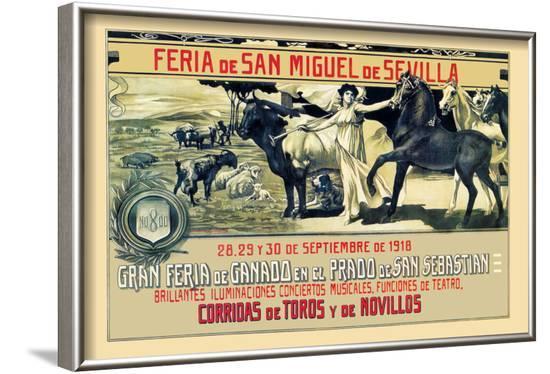 Sevilla Feria de San Miguel-Grant Hamilton-Framed Art Print