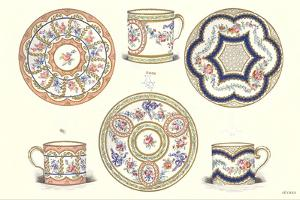 Sevres Porcelain Plates and Cups