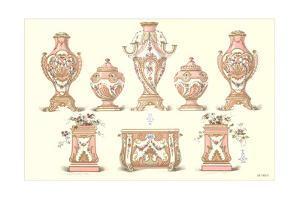 Sevres Porcelain Urns