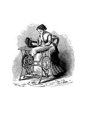 Sewing Machine by Isaac Merritt Singer, 1880