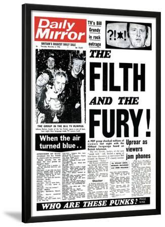 Sex Pistols- Daily Mirror Front Cover