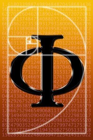 Fibonacci Spiral And Phi, Artwork