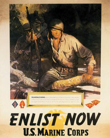 Enlist Now - U.S. Marine Corps by Sgt. Tom Lovell