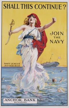 Shall This Continue? Join the Navy Recruitment Poster