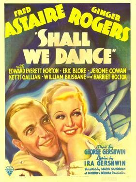 Shall We Dance?, Fred Astaire, Ginger Rogers on Window Card, 1937