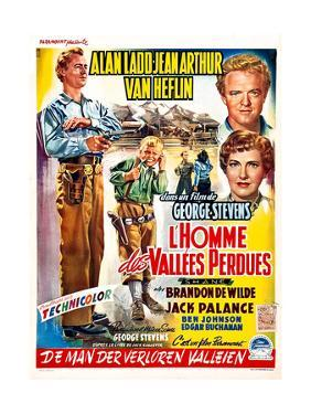 Shane, (aka L'Homme Des Vallees Perdues), Belgian Poster Art, 1953