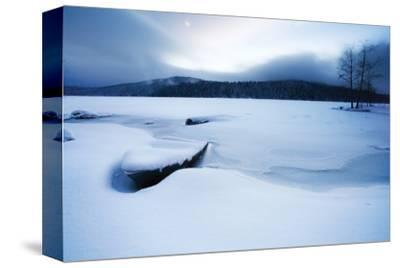 Lake of Woods Boat in Snow by Shane Settle