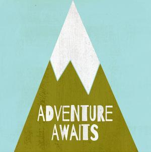 Adventure Awaits - Silouhette Typography by Shanni Welch