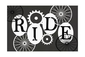 Black and White Typography - Ride by Shanni Welch