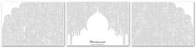 Shantaram By Gregory David Roberts (3 sheet set) Full Book text Poster