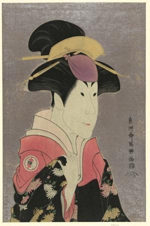 Segawa Tomisabur, an Actor, Head-And-Shoulders Portrait, Facing Right, in the Role of Yadorigi