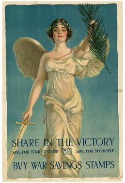 Share in the Victory Buy War Savings Stamps WWI War Propaganda Art Print Poster