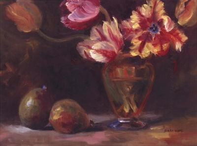 Parrot Tulips With Pears by Shari White