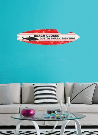 Shark Board Wall Decal Sticker