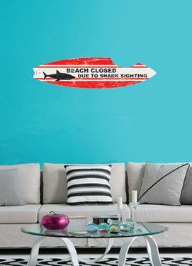 Shark Board Wall Decal Sticker