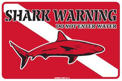 Shark Warning Do Not Enter Water