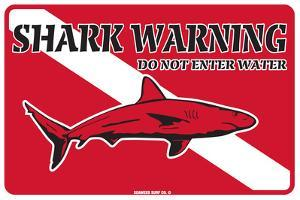 Shark Warning Do Not Enter Water
