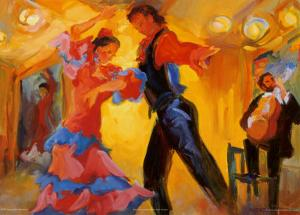La Pareja del Flamenco by Sharon Carson