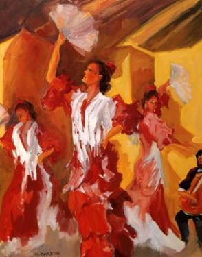 Los Bailarines de Flamenco by Sharon Carson