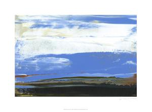 Deconstructed View in Blue I by Sharon Gordon
