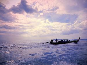 Boat on Ocean by Sharon Lapkin