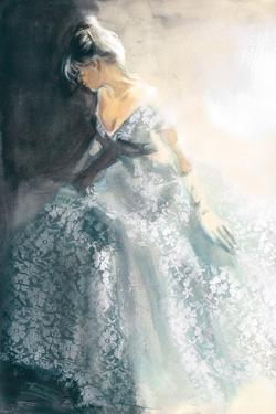 White Aubretia by Sharon Pinsker