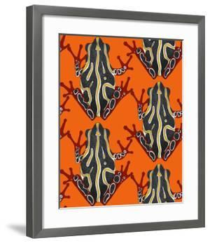 Congo Tree Frog Orange by Sharon Turner