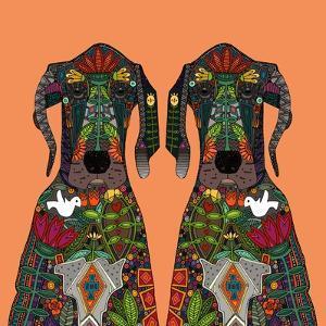 Great Dane Love Tangerine by Sharon Turner