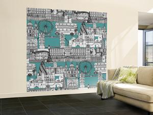 London Toile Blue by Sharon Turner