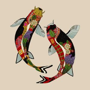 Two Koi by Sharon Turner