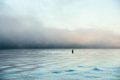 Figure in the Distance in Landscape by Sharon Wish